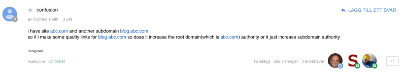 confusion domain question on google