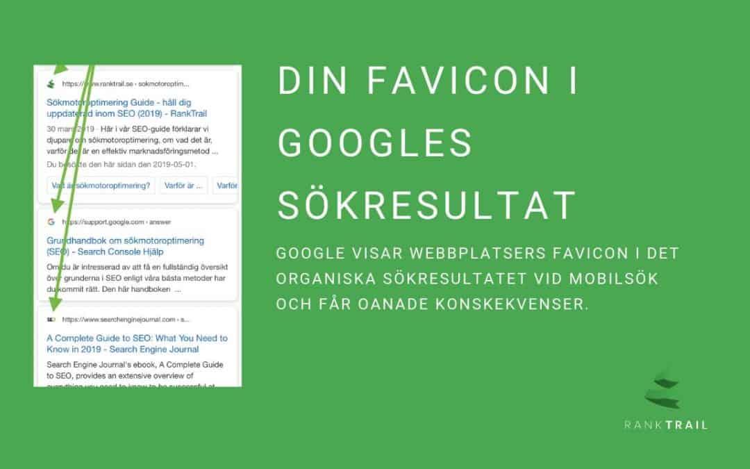 Din favicon i Googles sökresultat