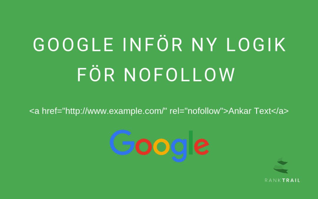 Google inför nya Nofollow-länkattribut