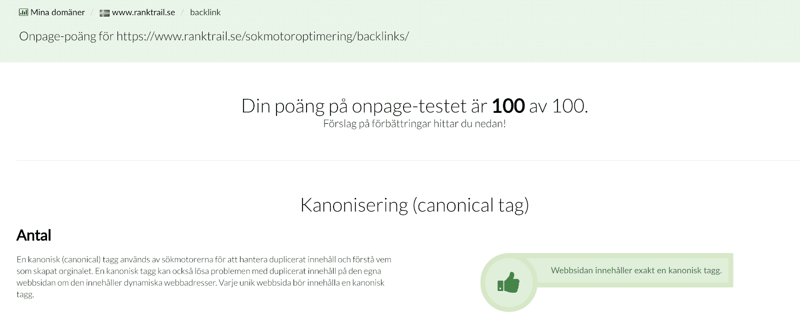 onpage seo content innehåll