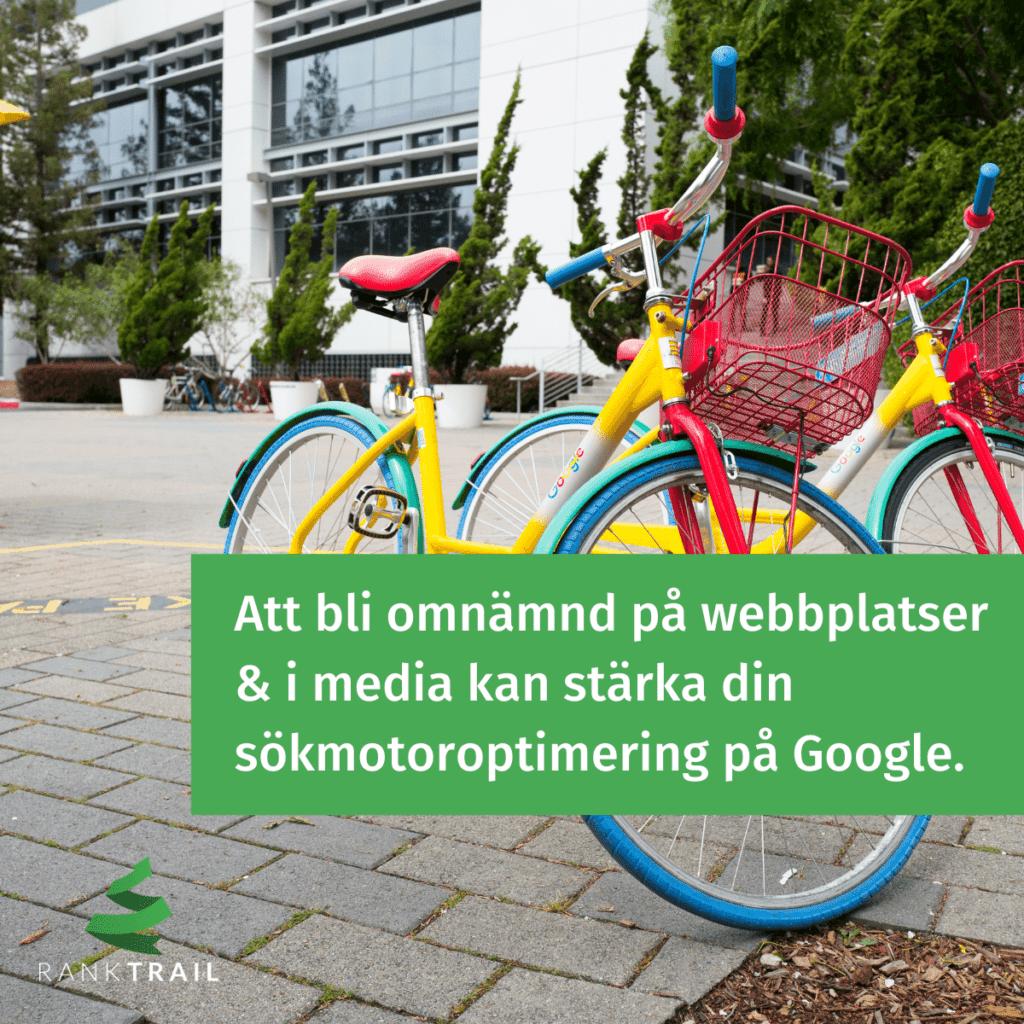 Att bli omnämnd på webbplatser och i media kan stärka din sökmotoroptimering på Google enligt Google EAT.