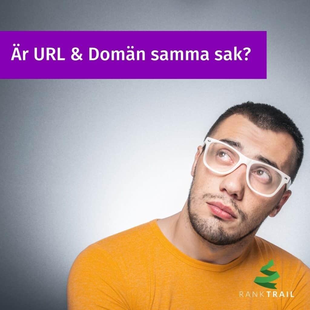 Vad är en URL och Domän, är det samma sak?